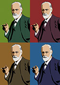 Sigmund Freud pop canvas