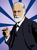 Sigmund Freud, limited edition, pop art print