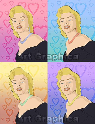 MARILYN MONROE art print, canvas, limited edition signed
