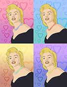 Marilyn Monroe limited edition print, pop art canvas