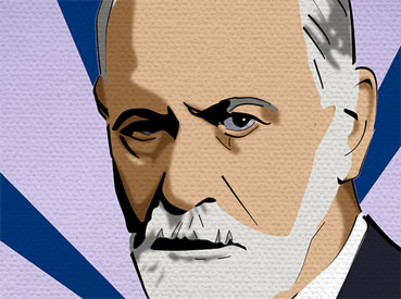SIGMUND FREUD, pop art canvas print