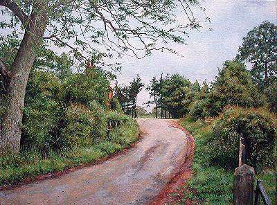rural scene, england, oil painting