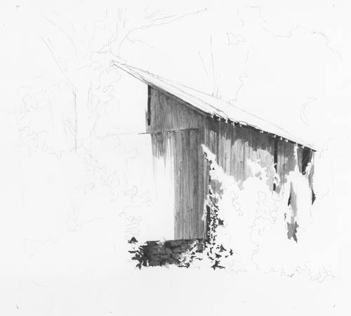 barn drawing lesson, clutch pencil, drawing barns