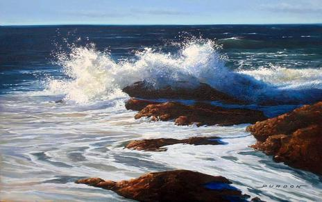 ocean surf, oil painting tutorial