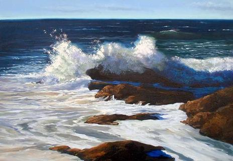 ocean, surf, oil painting lesson, free demo