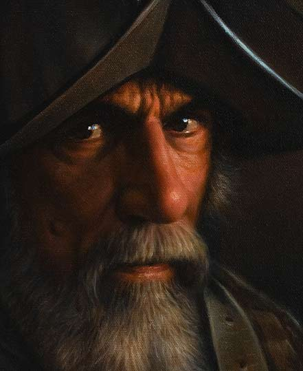 the old conquistador, old master painting demo