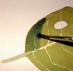 how to paint a leaf, free tutorial