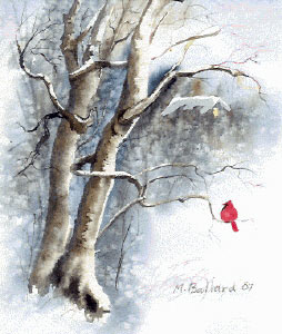 Make Your Own Christmas Cards Free Art Lesson: christmas card scenes to paint