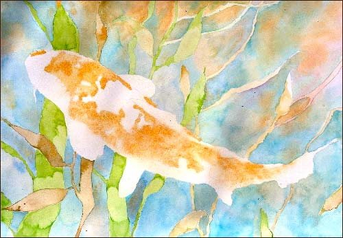 fish watercolor koi joy watercolor fish painting lesson