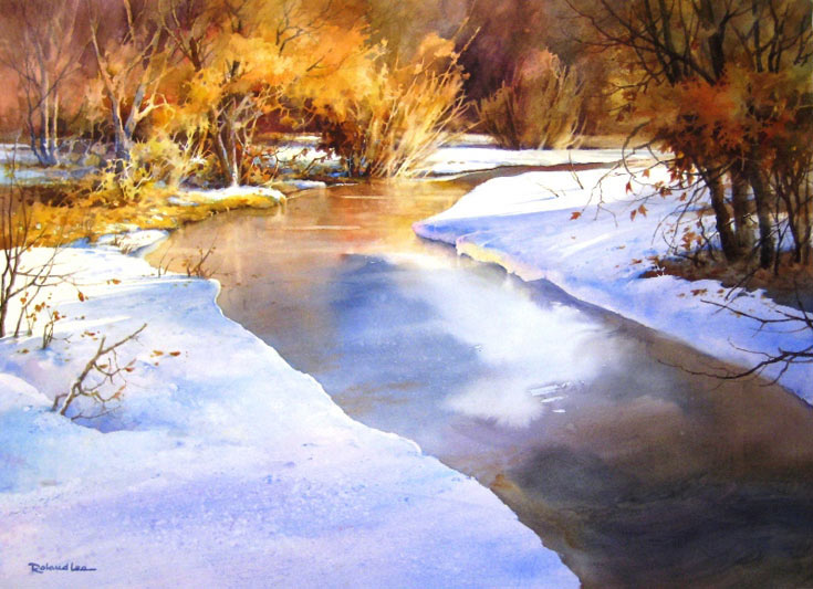watercolor snow scene art techniques