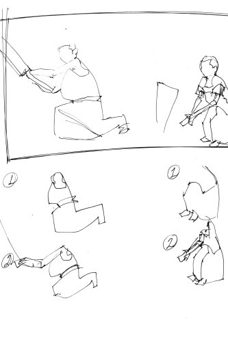 gesture sketches, free art lesson