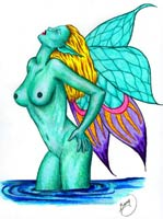 naked fairy, imaginative fantasy drawing tutorial
