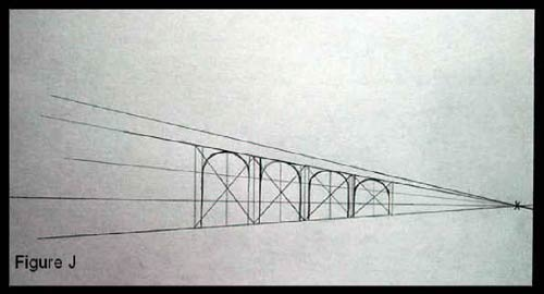 drawing a bridge using perspective