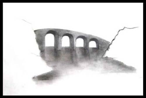 drawing a bridge in perspective