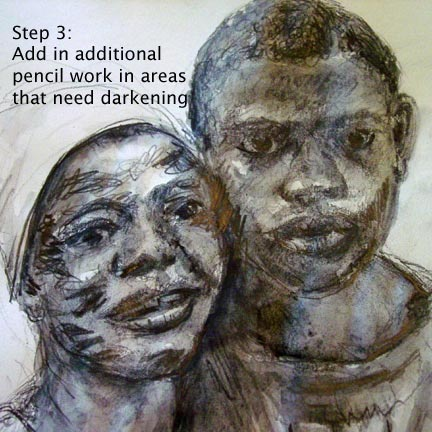 water soluble pencil, free art instruction