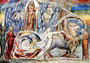 Beatrice Addressing Dante from the car by William Blake