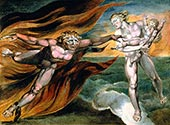 good and evil angels by William Blake