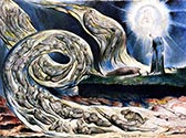 The Whirlwind of Lovers, Circle of the Lustful, Blake by William Blake