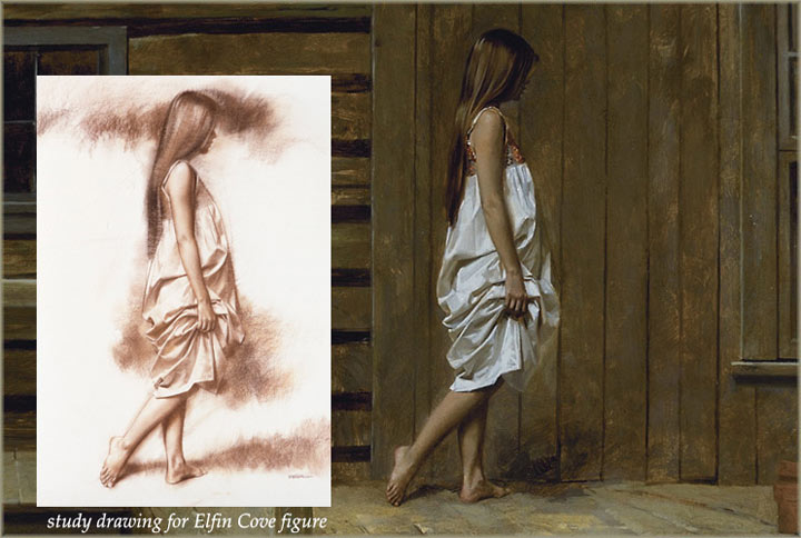free art lesson, figure study in oil paints