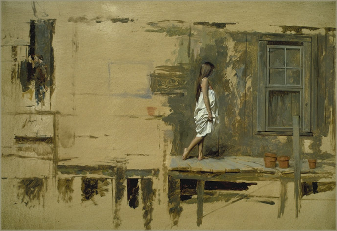 painting figure and architecture, oil painting lesson